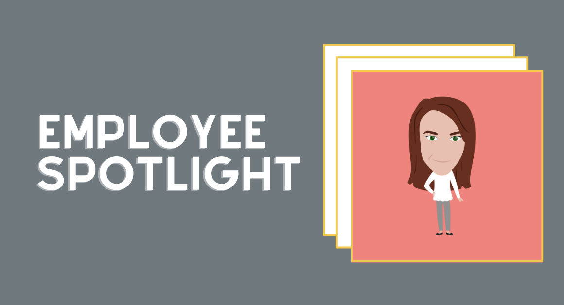 Employee spotlight text with illustration of rights executive shirin edwards
